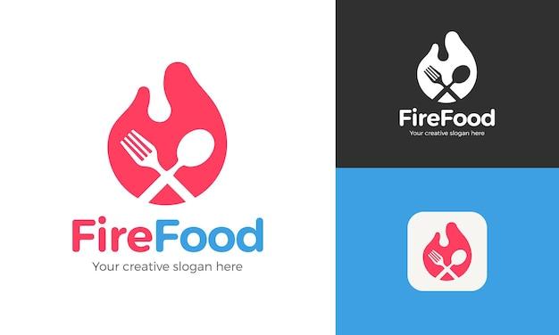 Шаблон логотипа с современными цветами для ресторана