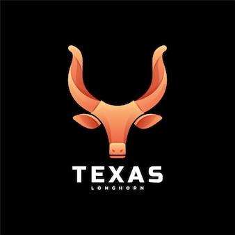 ロゴテキサスグラデーションカラフルなスタイル。