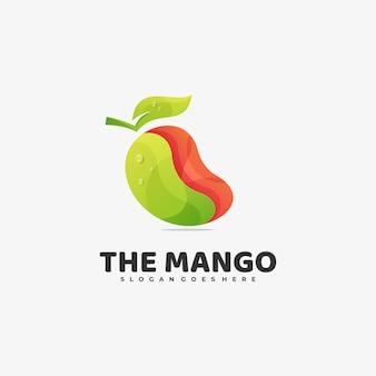 Логотип манго градиент красочный стиль.