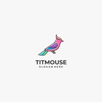 Logo titmouse colorful