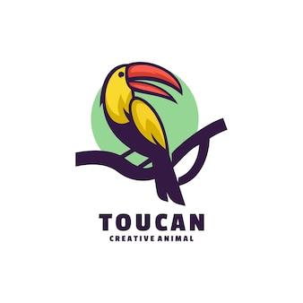 Логотип тукан цвета талисмана.