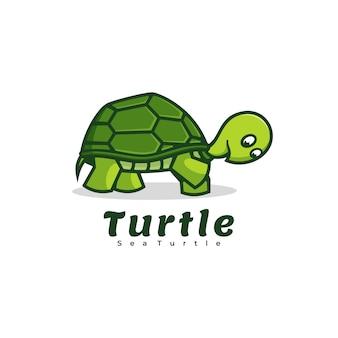 Логотип черепаха простой стиль талисмана.
