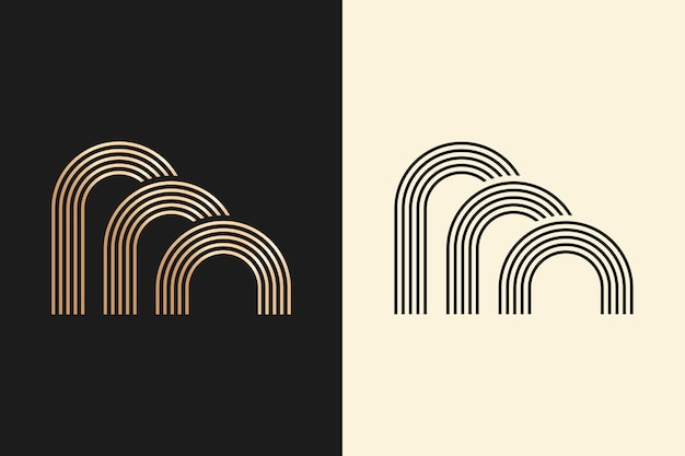 Logo in two versions abstract design
