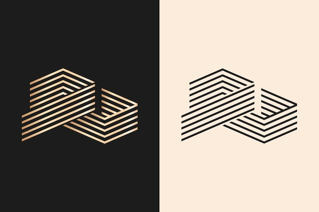 Logo in two versions abstract style