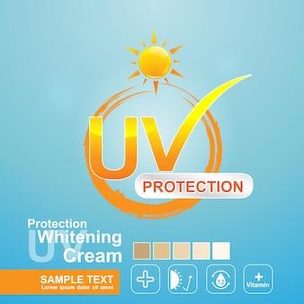 포스터 스킨 케어 제품 템플릿 로고 uv 보호.