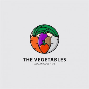 Logo of various kinds of vegetables