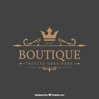 Logo in vintage and luxury style