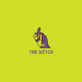 Logo with a creepy witch