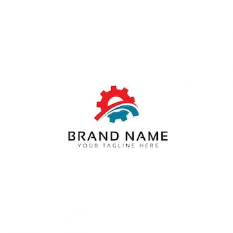 Logo with abstract gear shape