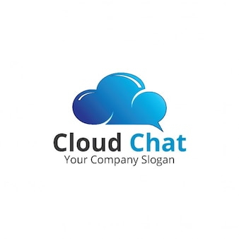 Logo with a bright blue cloud