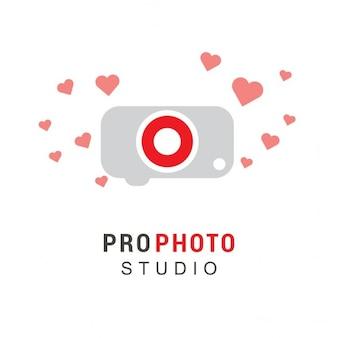 Logo with a camera and hearts