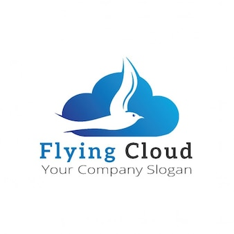 Logo with a cloud and a bird