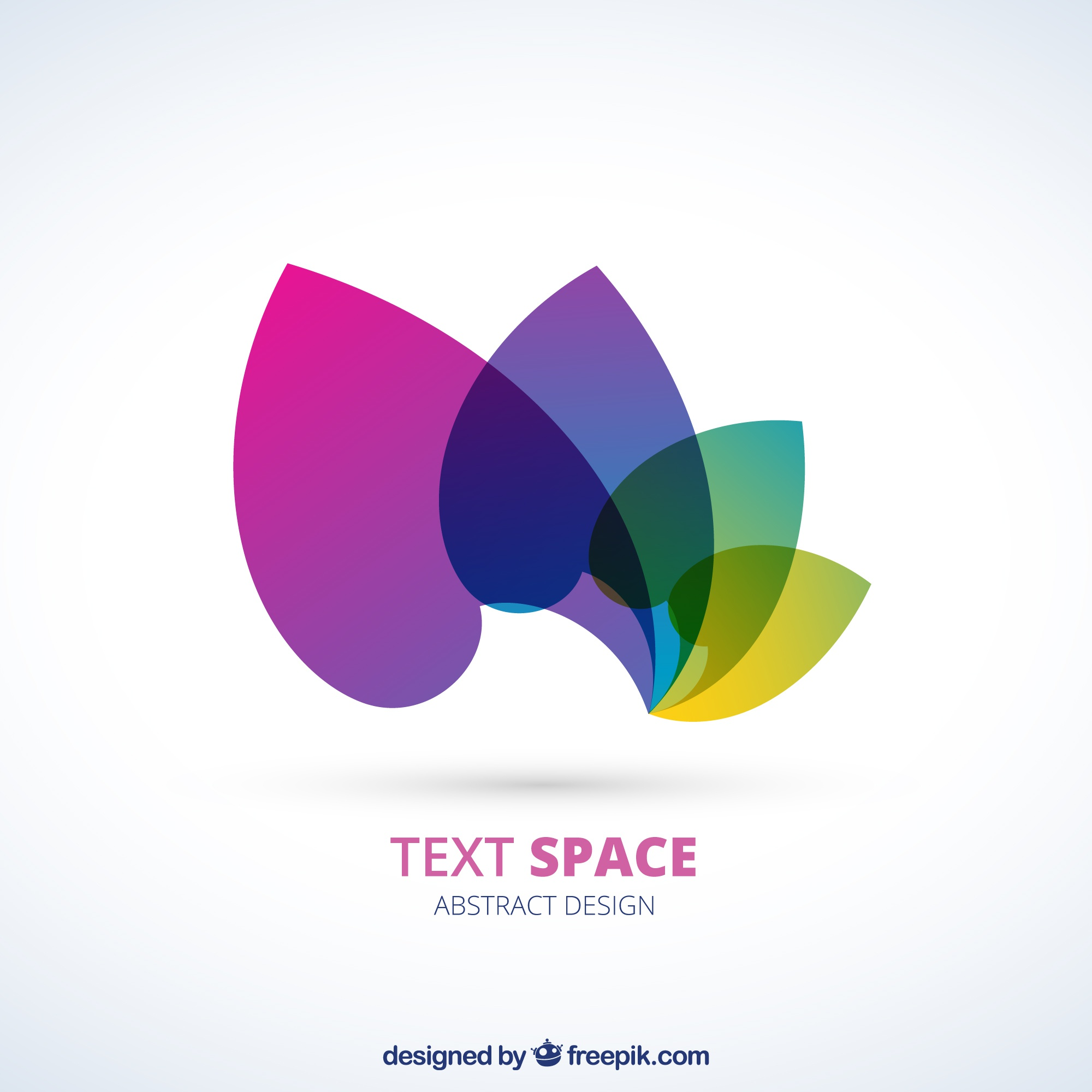 Logo with colorful petals