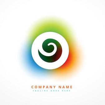 Логотип красочный водоворот с