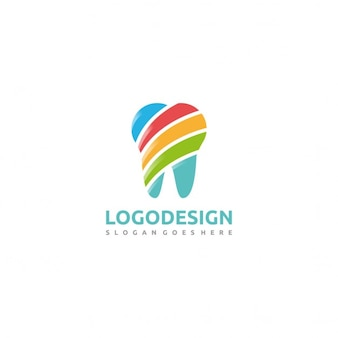 Logo with a colorful tooth