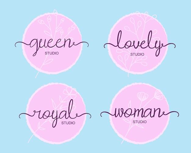 플로럴 라인, 핑크 로고.