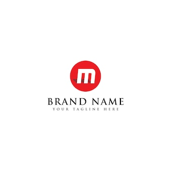 Logo with letter m