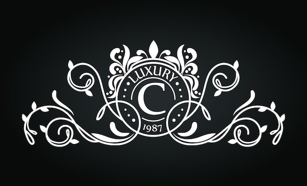 Logo with ornament design