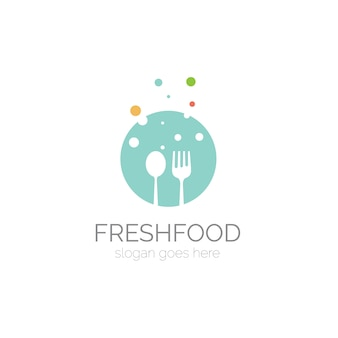 Logo with spoon and fork design