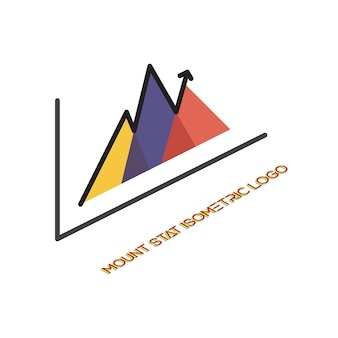 Logo with statistics