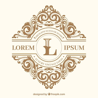 Logo with vintage and luxury style