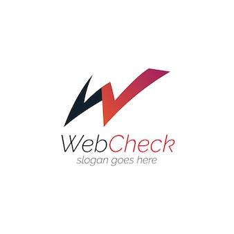 Logo with web design