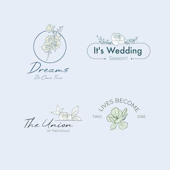 ブランディングとアイコンの結婚式のロゴ