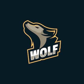 Logo wolf simple mascot style