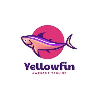 Logo yellowfin simple mascot style