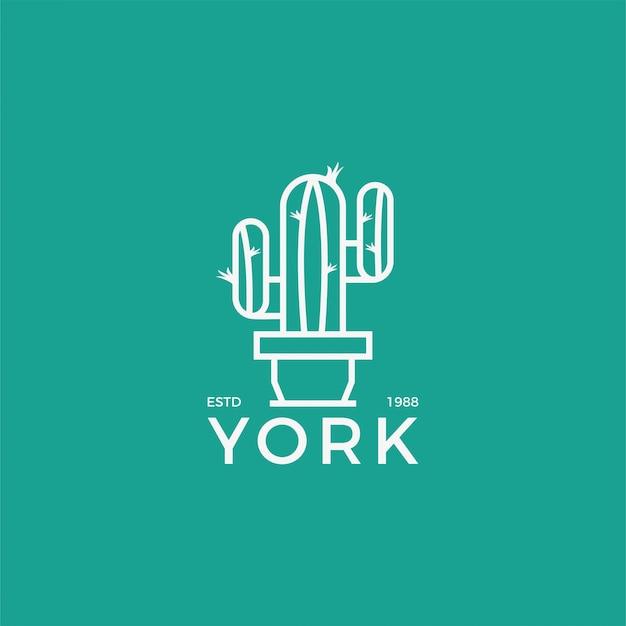 Логотип йорк уникальная концепция минимализм
