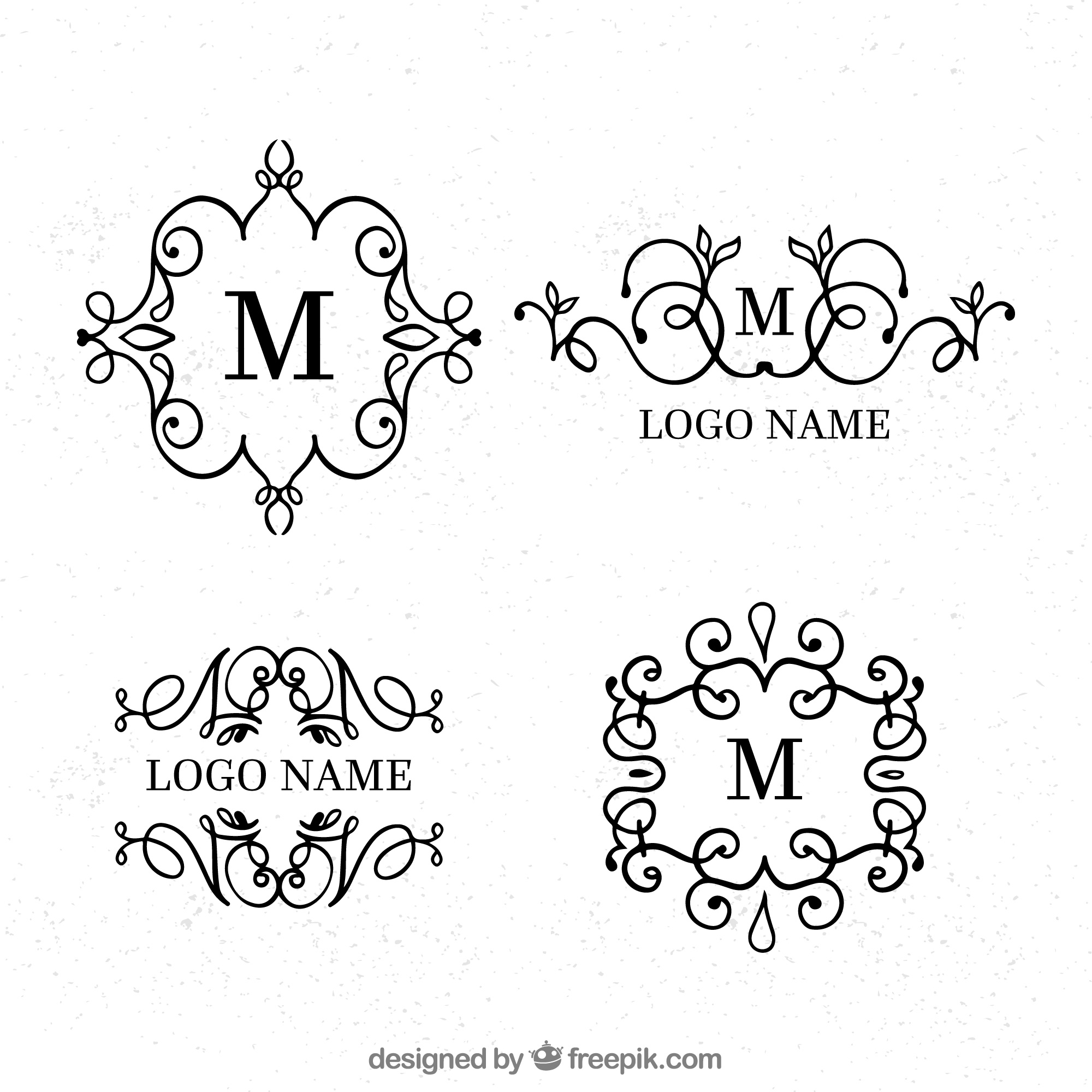 Logos collection in vintage and luxury style