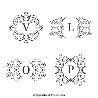ヴィンテージ&ラグジュアリースタイルのロゴコレクション