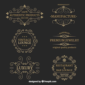 Logos collection with vintage and luxury style