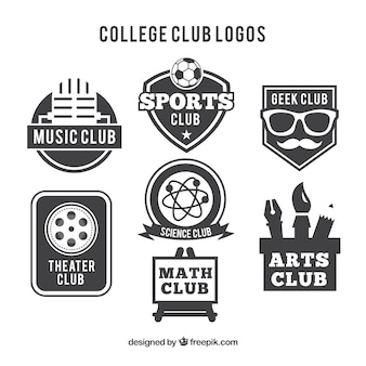 Logos for college clubs