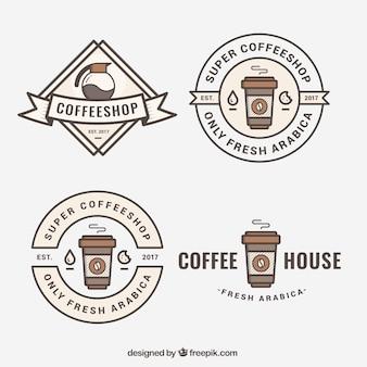 Logos flat for coffee