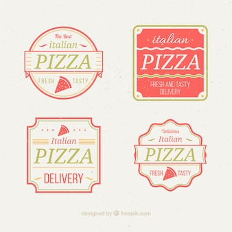 Logos framed for pizza
