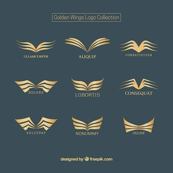 Logos of golden wings collection