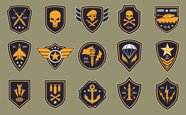 Logos of military groups