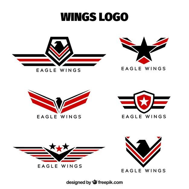 vintage Winged logos