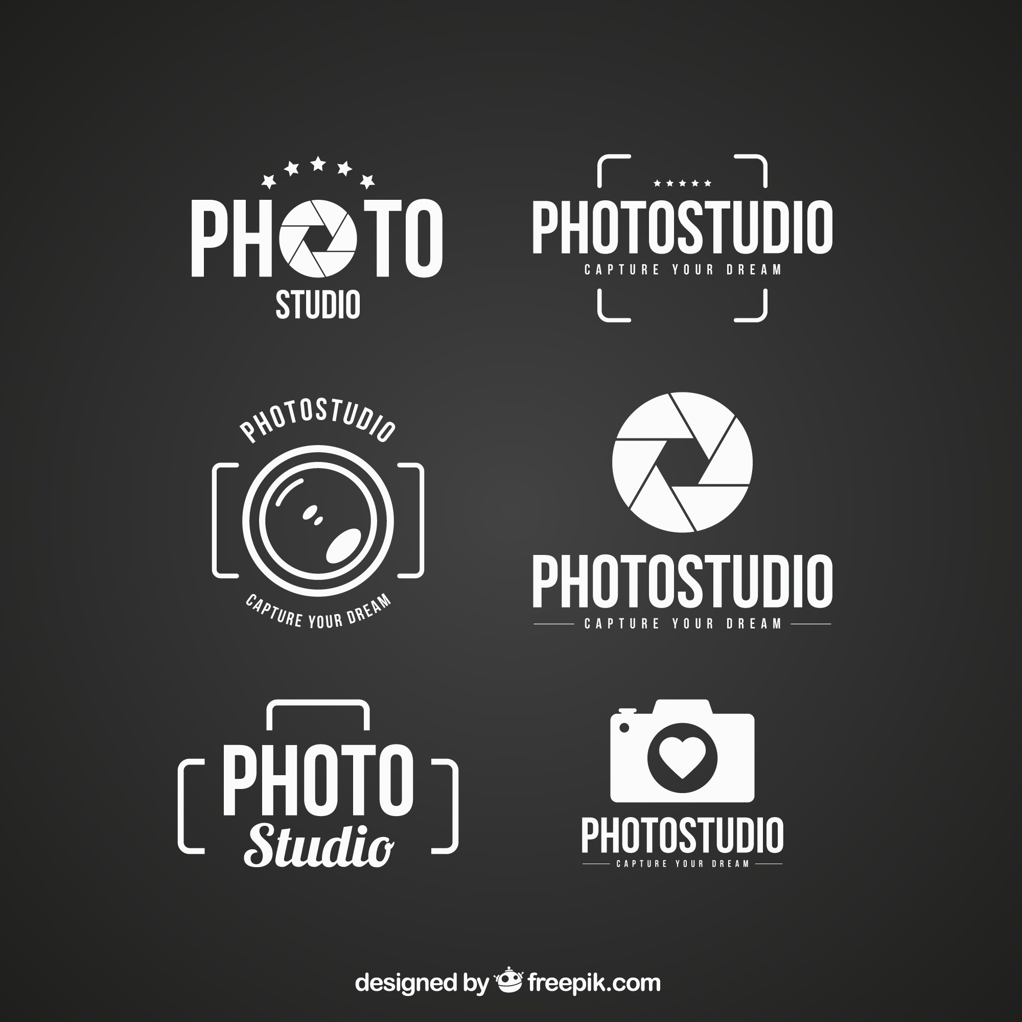 Logos of photo studio