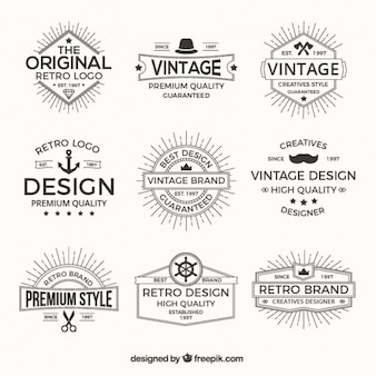 Logos pack in retro style