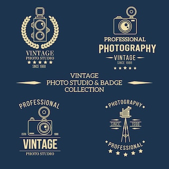 Logos for photography studio retro style