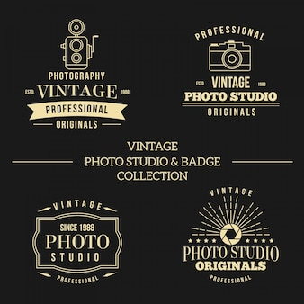Logos for photography studio vintage style