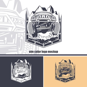 Logos set of off-road car