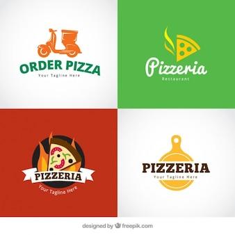 Logos set of pizzeria