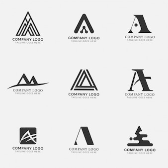 Logos with the letter a, collection