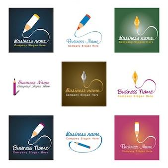 Logos with a pencil