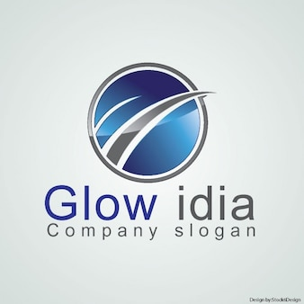Logotipo brillante circular