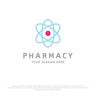 Logotipo de ciencia azul y rosa