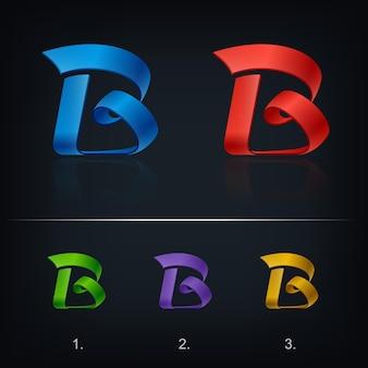 文字bの形のロゴタイプ、抽象的な様式化されたビジネスロゴのアイデア
